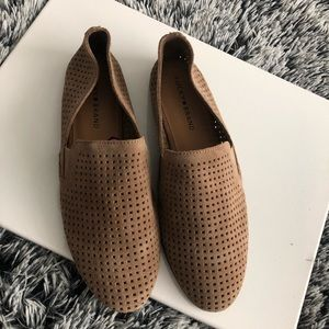 Lucky Brand flats loafers tan size 11 suede
